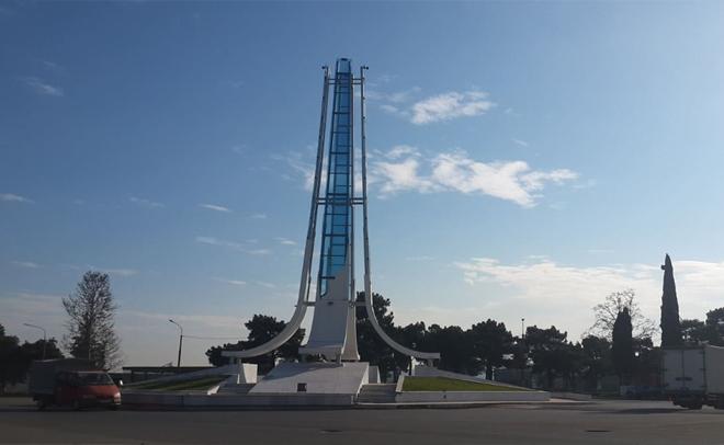 Heroes Memorial st. In Rustavi