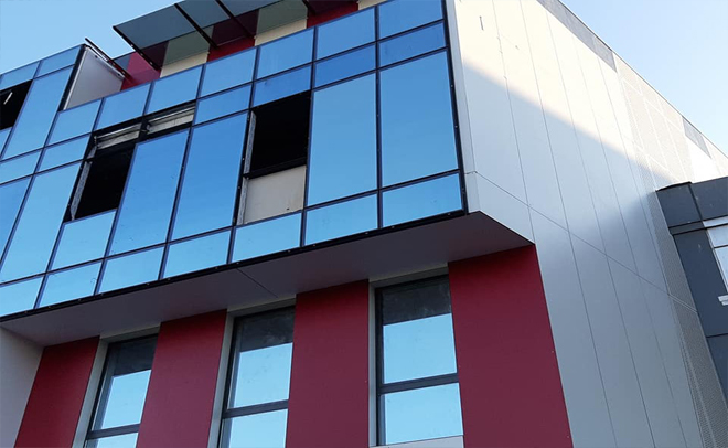 """Facade of the main office of the company """"EGT"""""""