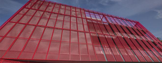 Фасад из перфорированного алюминия